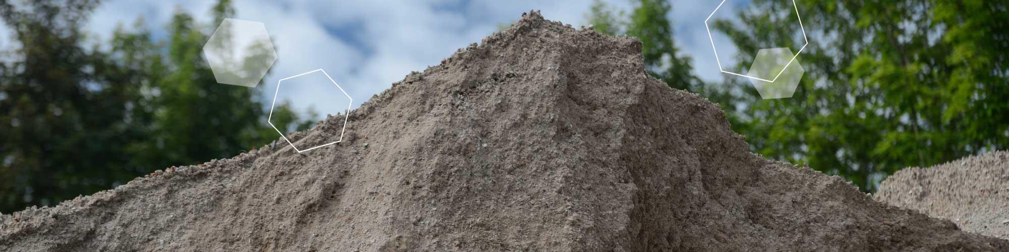 Berg von Schüttgütern